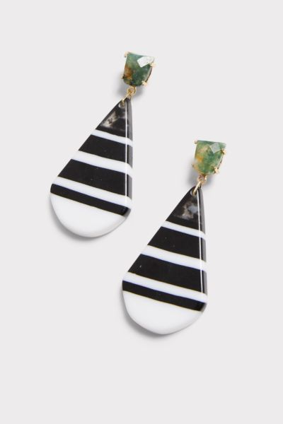 Thirty-nine 42 Oakley Stripe Tear Drop Earrings