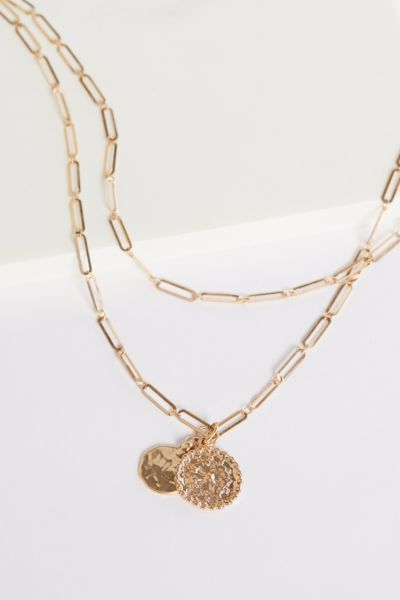 Thirty-nine 42 Chloe Paper Clip Double Strand Necklace
