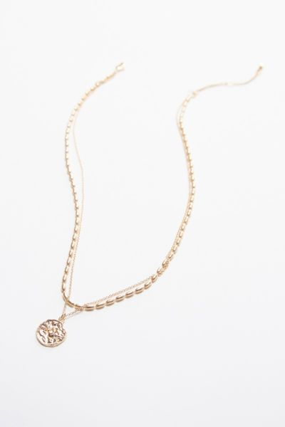 Brynn Double Strand Coin Necklace