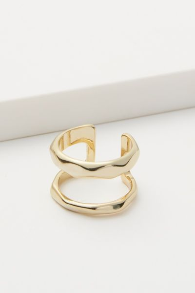Evereve Lindsey Double Bar Ring