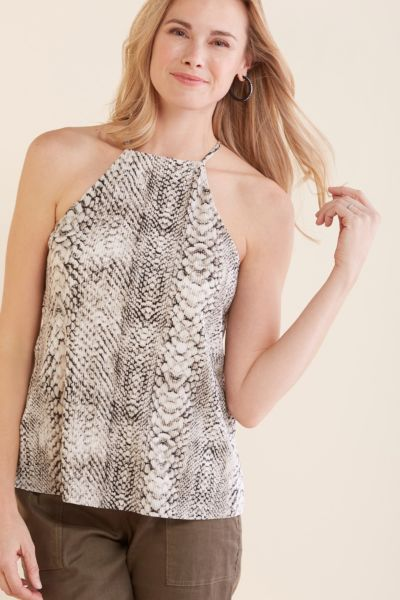 Allison joy Adrianna Pleated Snake Halter