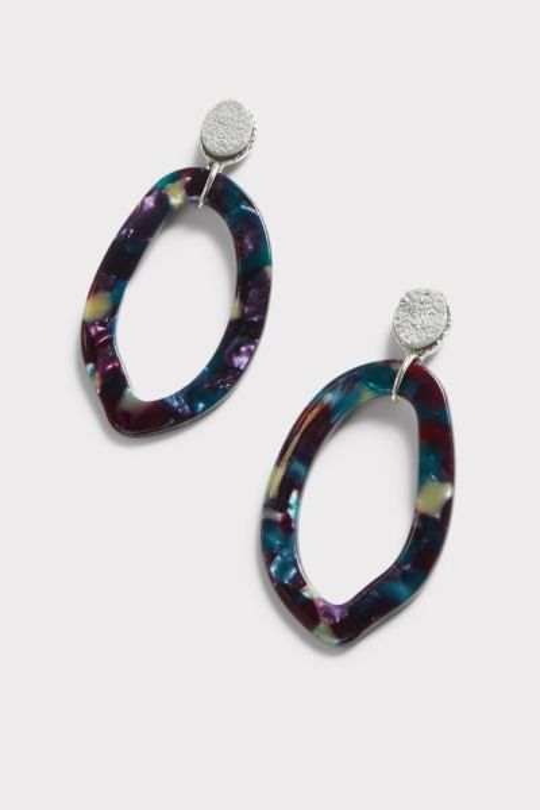 Thirty-nine 42 Paisley Resin Druzy Earrings