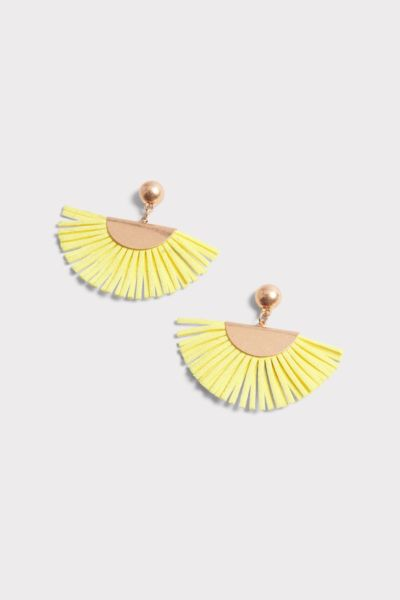 Evereve Giselle Leather Fringe Earrings