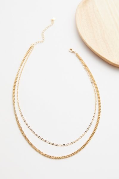 Evereve Camilla Double Chain Necklace
