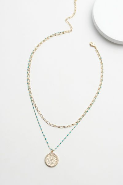 Evereve Sarina Beaded Pendant Necklace
