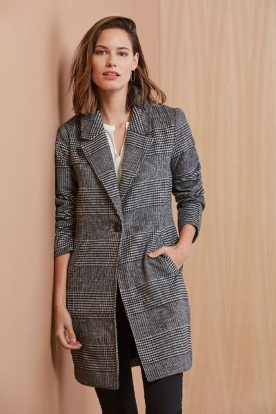 Nolan Plaid Coat