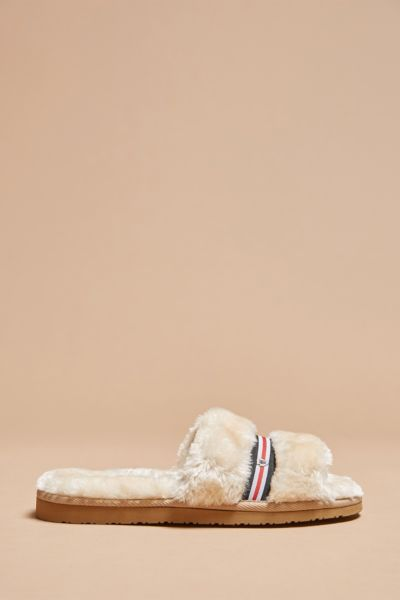Minnetonka Varsity Striped Slipper Slide