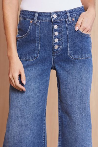 Paige denim Anessa with Exposed Buttons