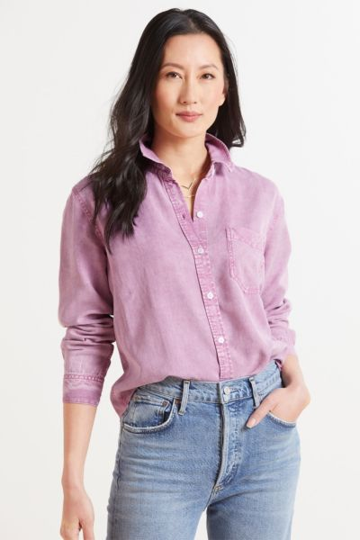 Rails Ingrid Raw Button Down