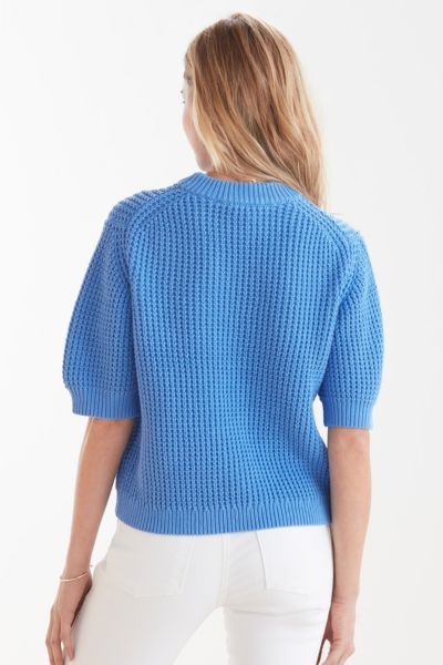 French connection Luna Motzart Waffle Pullover