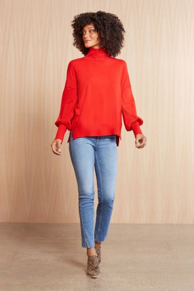 French connection High Neck Balloon Pullover