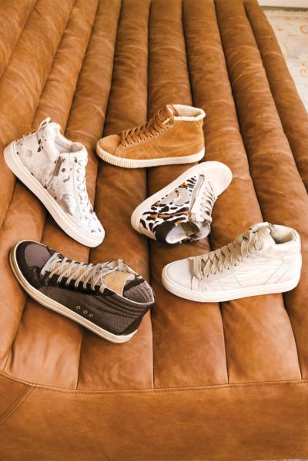 J/slides Ludlow Metallic High Top Sneaker