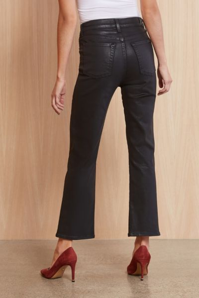 7 for all mankind Coated High Waist Slim Kick