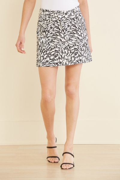 7 for all mankind Printed Mini Skirt