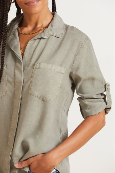 Cloth and stone Split Back Button Down