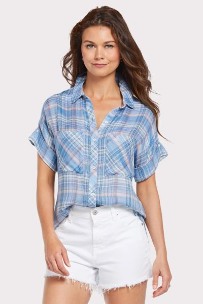 Cloth and stone Short Sleeve Playa Plaid