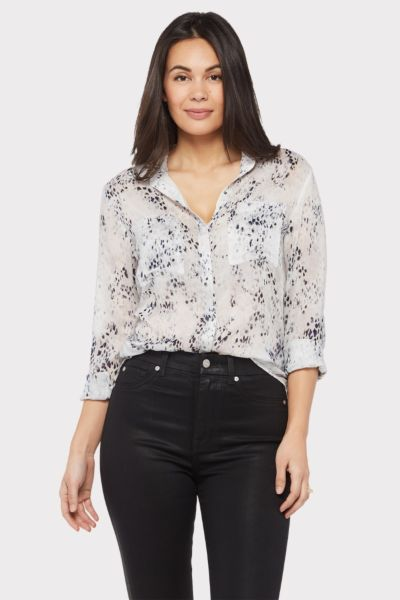 Cloth and stone Leopard Hipster Button Down