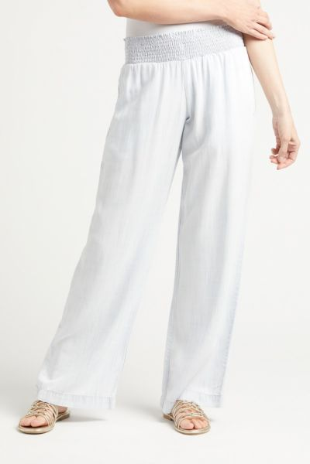 Smocked Waist Wide Leg Pant