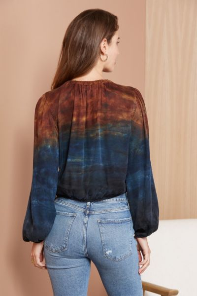 Cloth and stone Ombre Banded Blouse