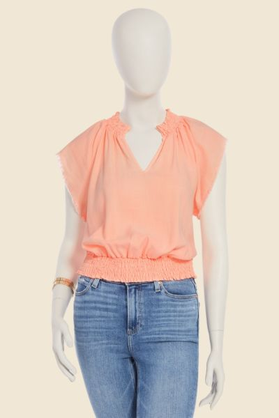 Cloth and stone Neon Smocked Top