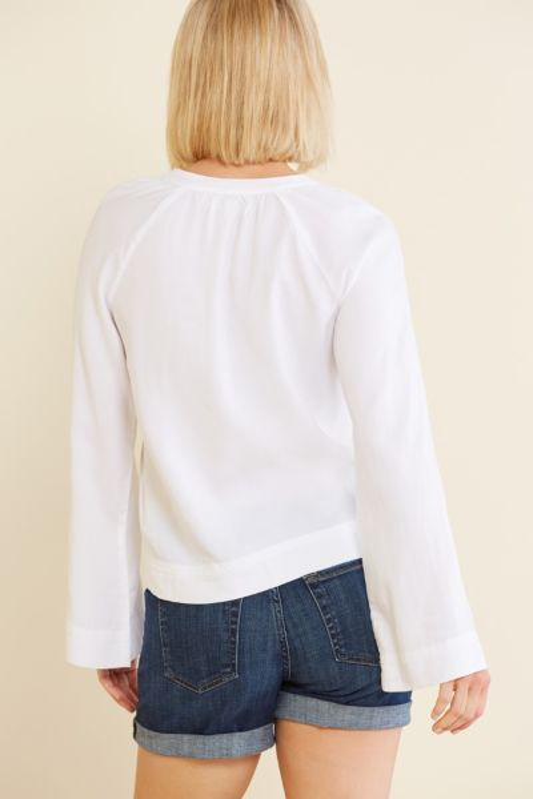 Cloth and stone Split Neck Raglan Top
