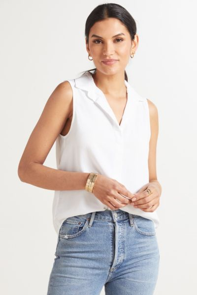 Cloth and stone Essential Sleeveless Button Down Shirt
