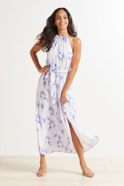 Cloth and stone Side Slit Halter Maxi