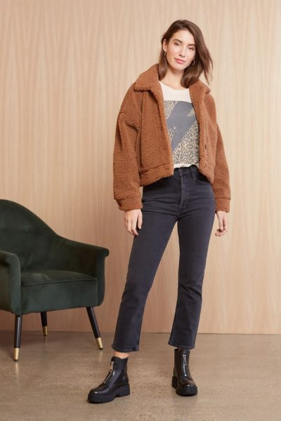 Cupcakes and cashmere Fiona Shearling Jacket