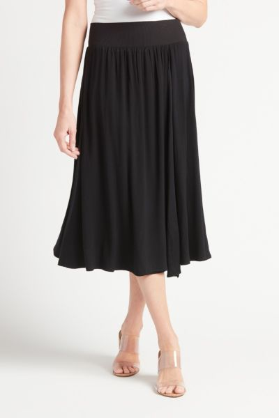 Faux Wrap Midi Skirt