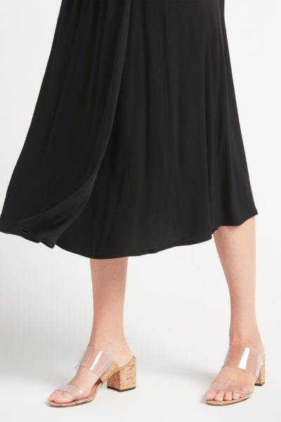 Chaser Faux Wrap Midi Skirt