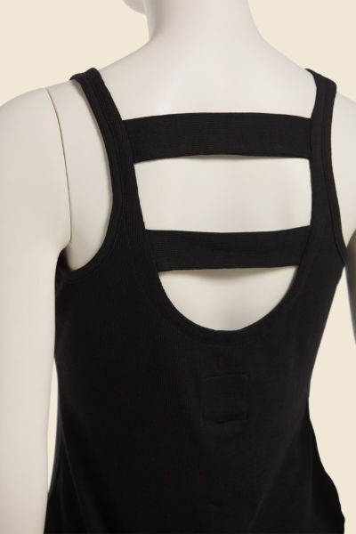 Chaser Ribbed Ladder Back Tank
