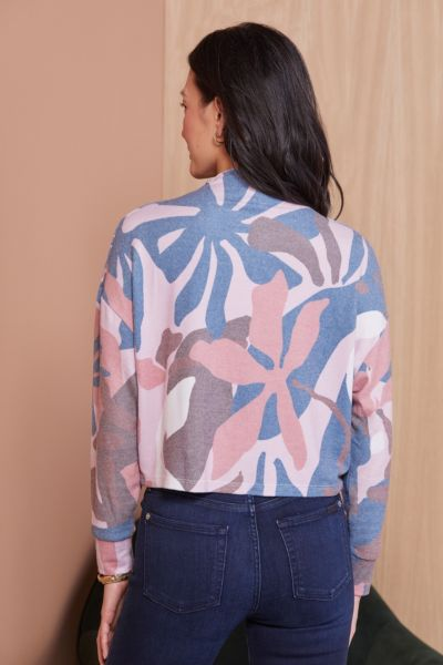 Chaser  Abstract Floral Printed Pullover