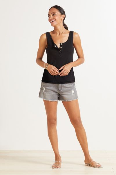 Chaser Henley Snap Tank