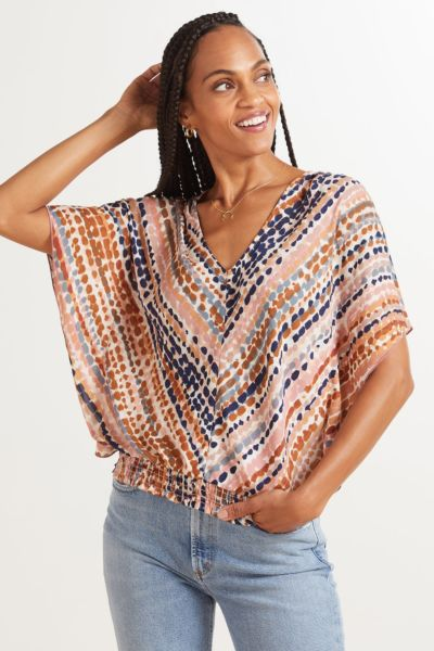 Roan + ryan Kylie V Neck Blouse