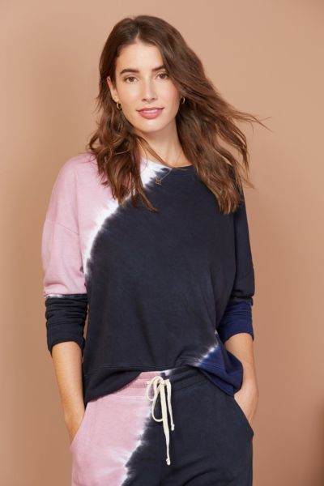 Sundry Oversized Tie Dye Sweatshirt