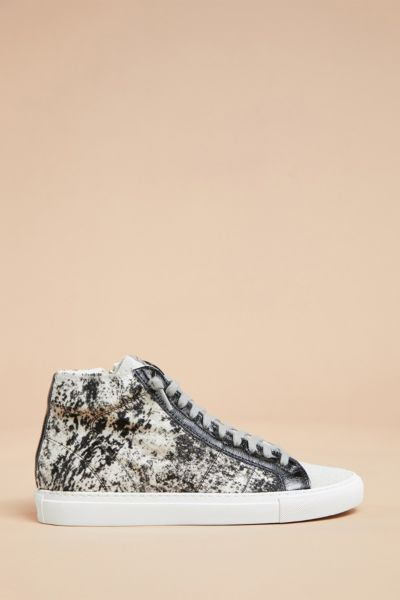 Calf Hair High Top Sneaker