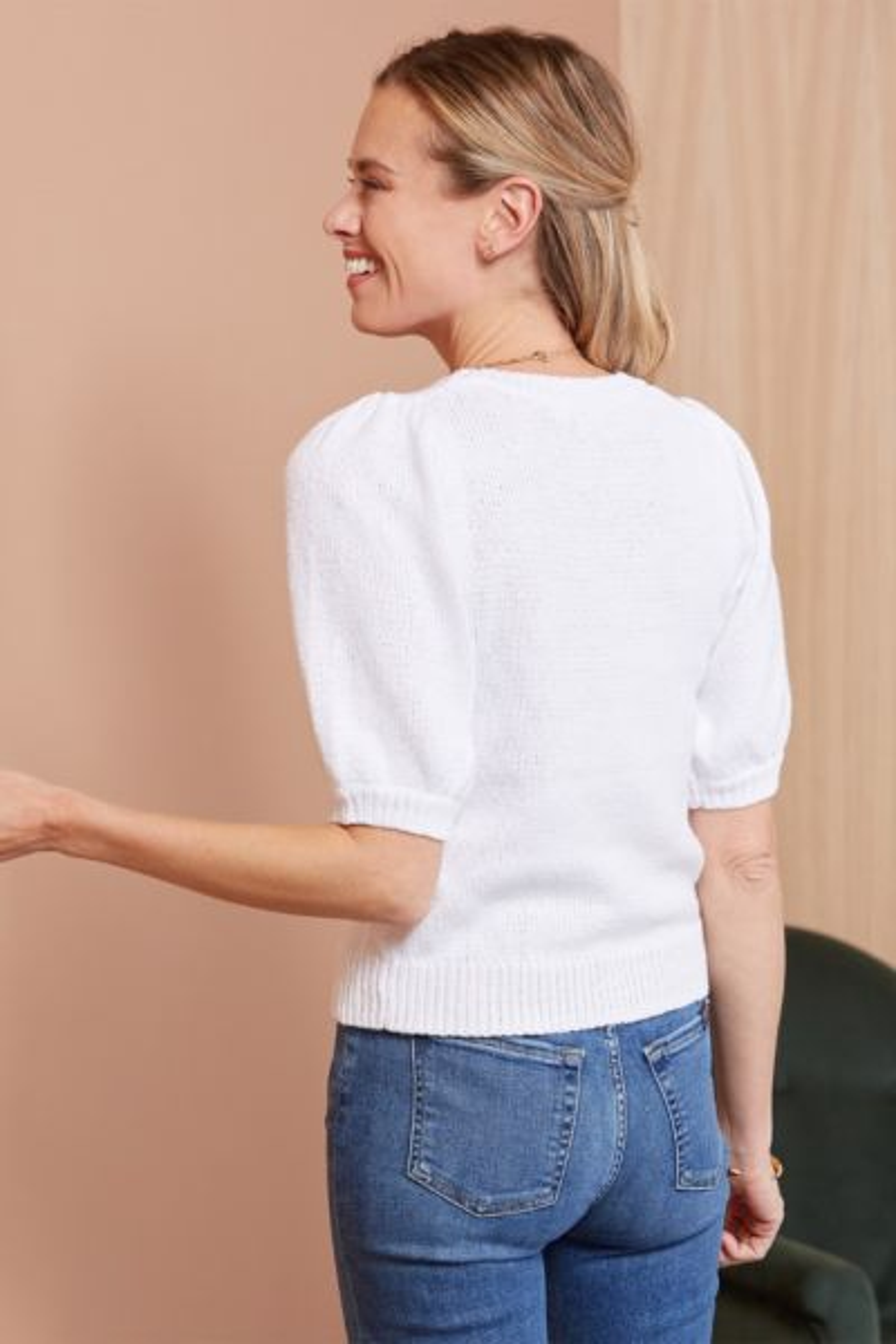 525 america Puff Sleeve Pullover