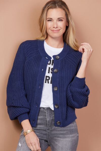 525 america Balloon Sleeve Cardigan