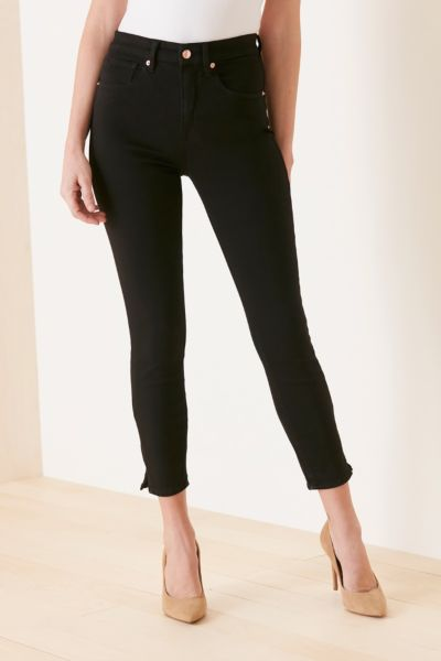 Good american Good Waist Crop with Side Slits