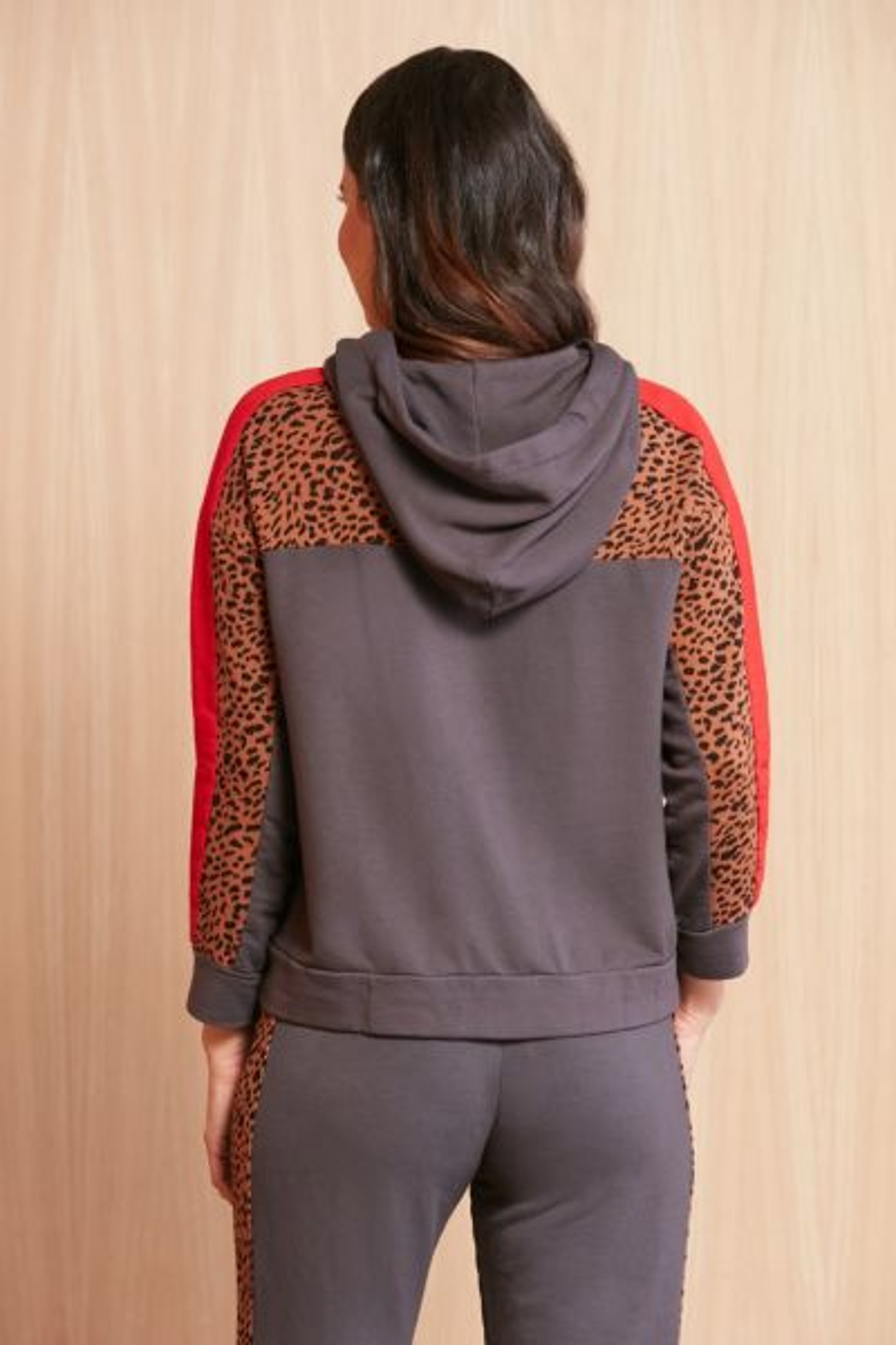 Monrow Leopard Supersoft Hoodie
