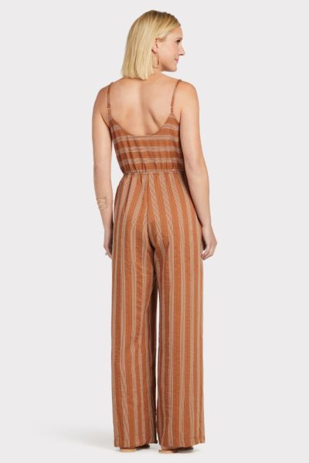 LOVESTITCH Bronze Stripe Jumpsuit