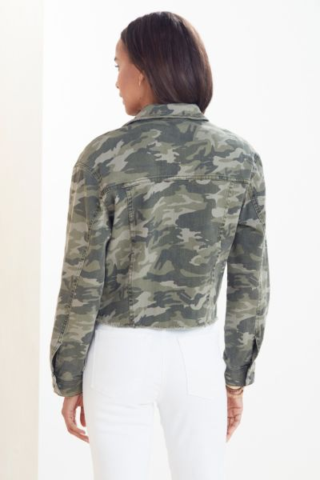 Kut from the kloth Camo Denim Jacket