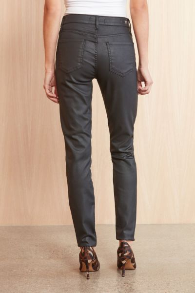 Kut from the kloth Coated Mia Skinny with Exposed Buttons
