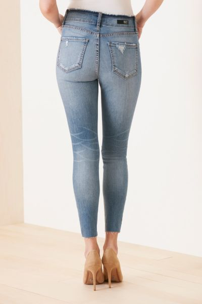 Kut from the kloth High Rise Connie Ankle Skinny with Exposed Buttons