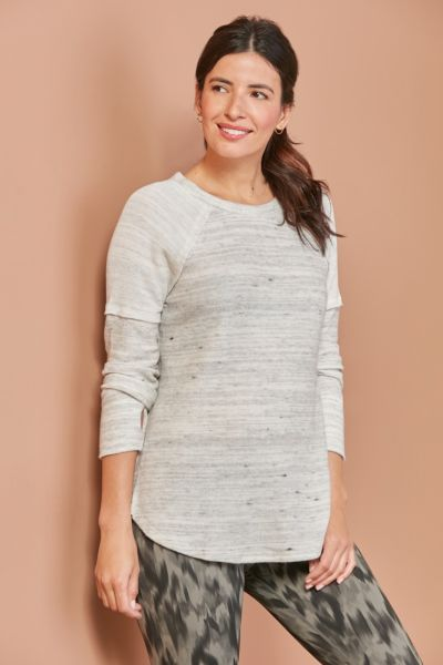Avi Heathered Brushed Tunic