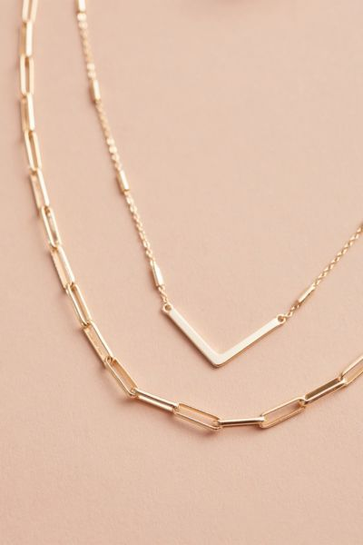 Thirty-nine 42 Tegan Paperclip Chain Double Strand Necklace
