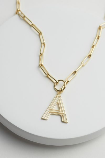 Evereve Chandler Initial Paperclip Necklace
