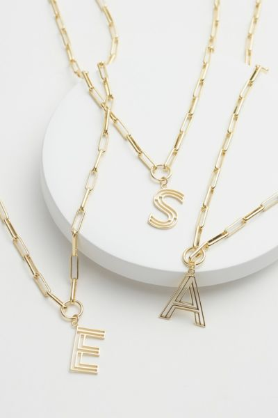 Chandler Initial Paperclip Necklace