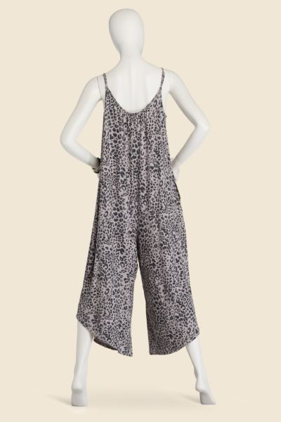 Z supply Leopard Flared Jumpsuit