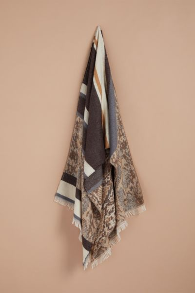 Harriet isles Lizzy Animal Striped Scarf